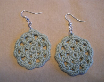 Light Green Round Earrings
