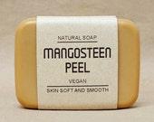 Mangosteen peel soap. Vegan soap, Eucalyptus Essential Oil scented, 100% Natural, Antibacterial and Good health for your skin