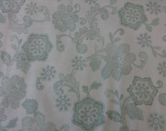 Quilting Treasures Light Green Floral Filigree Fabric 316
