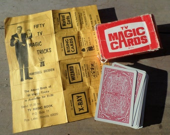 vintage deck of Playing Cards TV MAGIC CARDS in original box