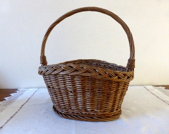 Vintage French, Market Basket, Home Decor