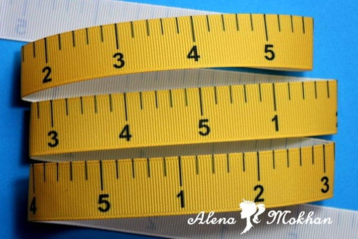 7.5 Yards 7/8 Measuring Tape Ruler Back 2 School Printed