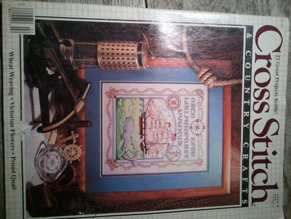 Unavailable listing on etsy for Country living magazine cross stitch