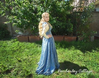 Custom Medieval Dress - Lady Marian, The Brave - Once Upon a Time  Pre-Raphaelite, Guinevere, Fantasy.
