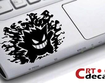 Gengar Pokemon Vinyl Decal - wrist decal - Laptop Decal - Vinyl keyboard decal - Computer Decal - Computer Sticker - palm rest sticker