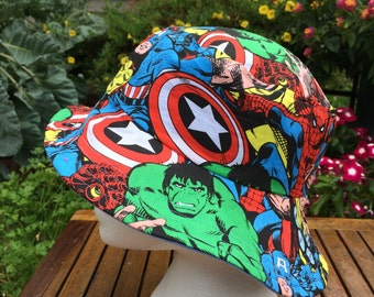 Avengers Hat Reversible Bucket hat. Bucket hat Sun Hat. Beach Hat. Marvel hat.