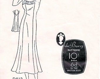 DuBarry D 612 Thirties' Movie Star Fitted Slip 1930's / BUST32 FACTORY FOLDS
