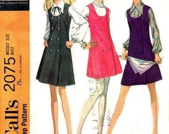 McCall's 2075 Fashionable Jumper & Blouse 1969 / SZ14 UNCUT