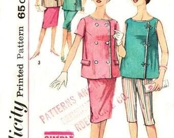 Simplicity 3967 Fetching Maternity Top, Skirt & Pants / ca. 1961 / SZ12 UNCUT