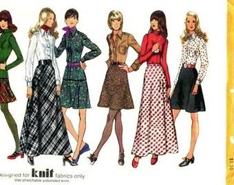 Simplicity 5196 Jiggy Shirt and Top & Bias Skirt 1972 / SZ16 UNCUT