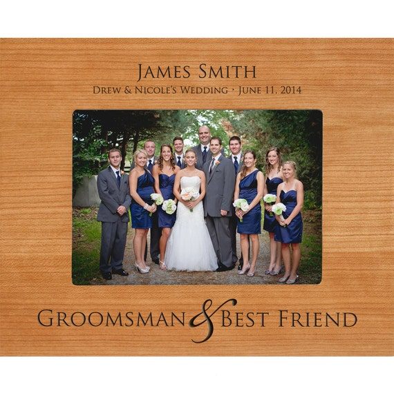 Personalized Groomsmen & Best Friend Gifts picture frame Cherry photo ...
