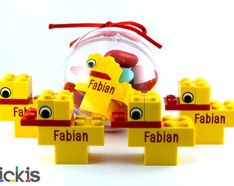 LEGO® engraved baby shower gift duckling custom baby birth announcement