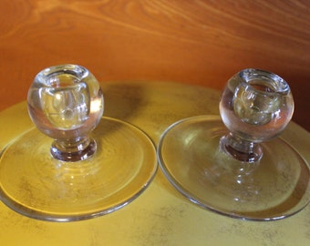 Vintage candle holders set of 2