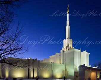 Denver Colorado Temple - Fine Art Photography Print - Home Decor LDS Mormon Temple