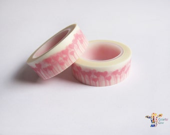 Pink Hearts Washi Tape