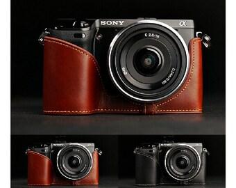 2 Colors! SONY NEX7 Case, NEX7 leather camera pedestal, leather camera nex7 half case