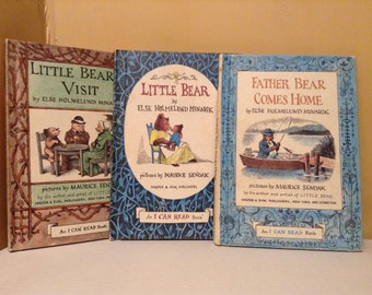 "3 Little Bear Books ""I Can Read"" Hardback Books Vintage"