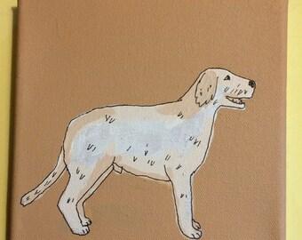 Irish Wolf Hound Wolfhound Painting dog