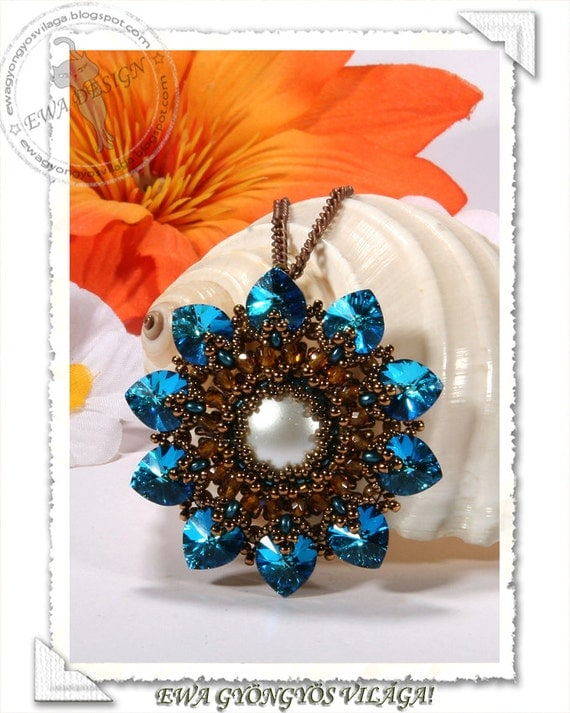Lorell beaded pendant PDF pattern