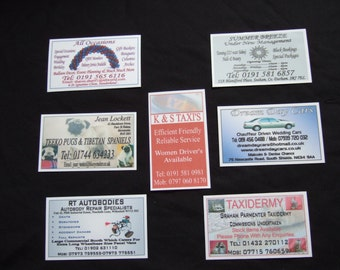New 1000 x  Laminated Business Cards  Designed & Printed With Your Business Details