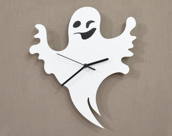 Halloween Cute Ghost Silhouette - Wall Clock
