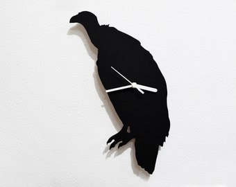Vulture Silhouette - Wall Clock