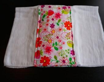 Bright Flowers Burp Cloth