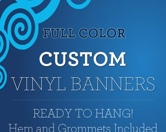 4x7 Indoor Outdoor Custom Vinyl Banner with True Solvent Ink Signs And Grommets by BannerBuzz