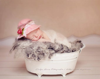 romantic roses Hat baby photography