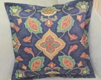 Romo Zanzibar Blue Oxford Style Cushion Cover 48cm x 48cm