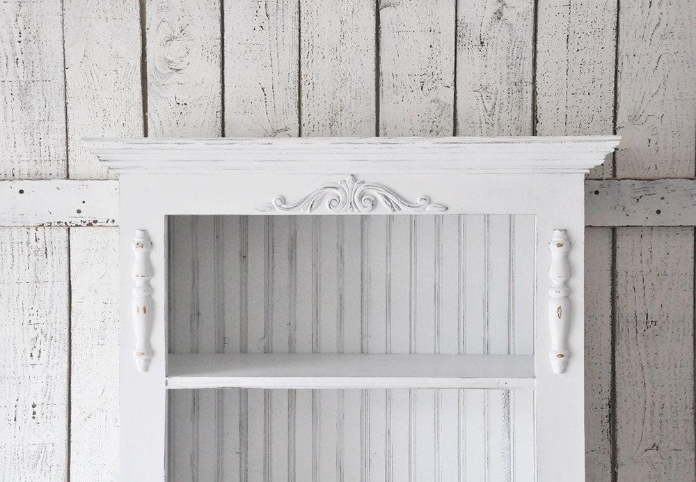 Bookcase In Distressed White Bookshelf In By SaltValleyMarket