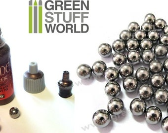 Mixing Stainless Balls 6,35mm - for Paint pots: Vallejo, Model Color, Citadel ...