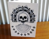 Egyptian Skull black and white Card