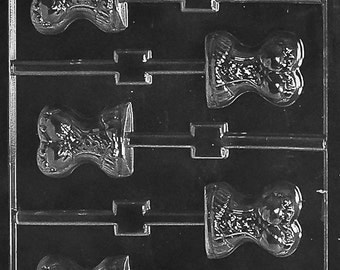 FlavorTools D105 Chocolate Candy Mold, Corset Lolly Dads and Moms with Exclusive FlavorTools Copyrighted Chocolate Molding Instructions
