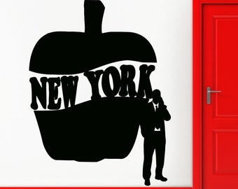 Wall Sticker New York Big Apple City Words Cool Decor for Your Place z1383