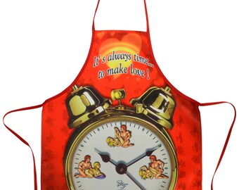 It's Always Time To Make Love BBQ Kitchen Novelty Apron - Free Shipping