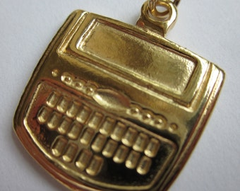 14k Gold Plated Steno Charm for Court Reporter
