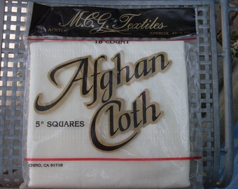 Afghan Cloth for Counted Cross Stitch or Embroidery