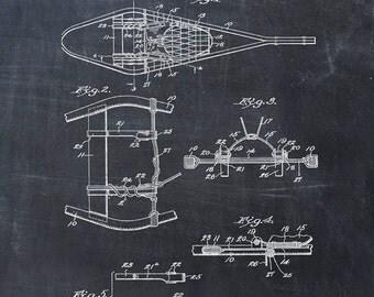 Patent Print of a Snowshoe Patent Art Print Patent Poster