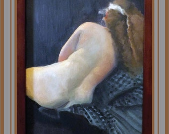 This  print is of my original oil painting from a live, posed model.
