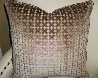 High End Highland Court cut velvet pillow. Down feather insert included. Free shipping.