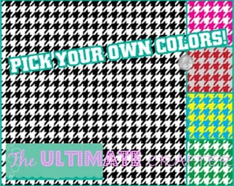 Houndstooth pattern outdoor permanent vinyl Crafters vinyl