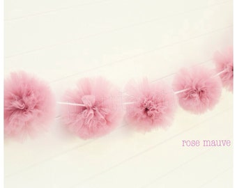 Rosy Mauve Tulle Garland