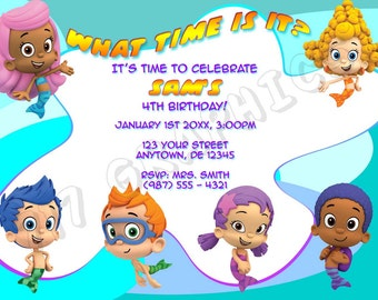 Bubble Guppies Birthday Invitation - Printable