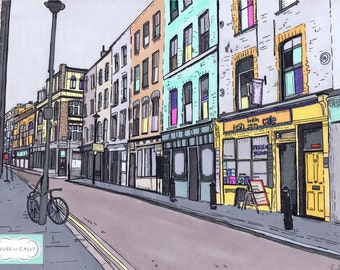 SALE A3 Giclee print of Lexington Street, Soho