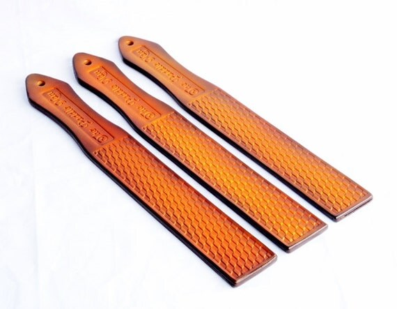 Handmade Leather Paddle. Leather Spanking Paddle. BDSM Paddle. Checker Paddle By The Paddleman