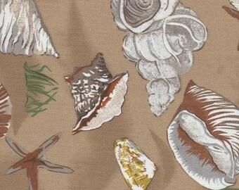 Sea Shell Mocha Indoor Outdoor Fabric