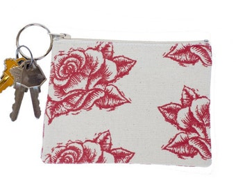 Red Rose Coin Purse/Keychain