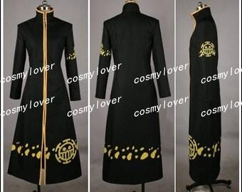 One Piece Trafalgar Law Coat Custom Made Cosplay Costume