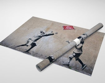 Banksy - No Ball Games Archival Canvas Print